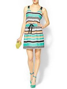 BCBGeneration Pleated Stripe Dress | Piperlime via @Michelle Coleman Divine