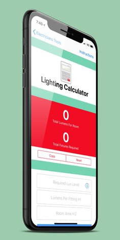 Our #Electricians tool box in has a useful lighting calculator, why not try it out