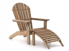 ROUGH-S Adirondack lounge tuinstoel - Old Teak Greywash - Kees Smit Adirondack Chairs, Outdoor Chairs, Outdoor Furniture, Outdoor Decor, Coffee Table Images, Live In Style, Sun Lounger, Material, Home Decor