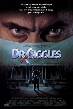 We take a look back at Manny Coto's hilariously deranged DR. GIGGLES, starring Larry Drake and Holly Marie Combs Holly Marie Combs, Brian May, Larry, Fall On Your Knees, Local Movies, Creepy Movies, Cool Posters, Movie Posters, Best Horror Movies