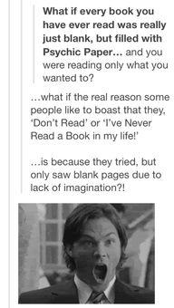 im going to tell non readers this and freak them out.