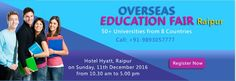 Krishna Consultants to host Overseas Education Fair'16 at #Raipur this December. #overseaseducationfair #studyabroad