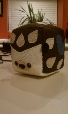 "CUSTOM Handmade 5"" Sugarcube Toy. Completely hand-stitched, vegan and eco-friendly. custom order only. 5"" . Can be made with alterations to animal, colors, fabric type and with add-ons such as magnets, velcro, bells, poly pellets, etc. $25.00 #plushie #cube #animal"