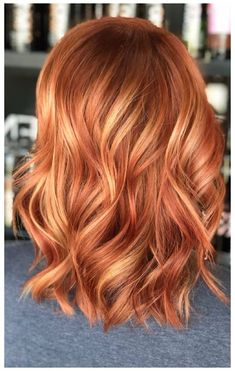 Red Hair With Blonde Highlights, Red Blonde Hair, Copper Blonde Hair, Bright Copper Hair, Brown Hair, Color Highlights, Red Hair Bobs, Red Hair For Blondes, Copper Hair Colors