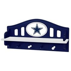 Dallas Cowboys Kids Wall Shelf Coat Rack