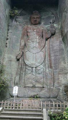 千葉県 日本寺の百尺観音 Kannon in the Nihon-ji , Chiba , Japan