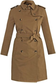 Goldplated Cotton Trench Coat - Lyst