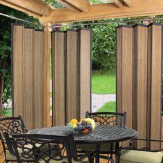 """Bay Isle Home Nassau Indoor/Outdoor Ring Top Single Curtain Panel Size: 40"""" W x 84"""" L, Color: Espresso"""