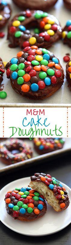 M&M Cake Doughnuts - Handle the Heat
