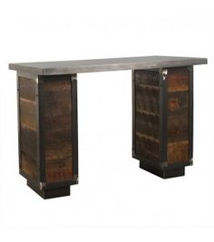 Charmant Blackshear Manicure Table In Reclaimed Pine