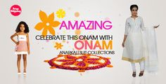 Look Smart & Stylish on Onam festival with these Glorious women Anarkali dresses. A wide range of bright colors and latest design collection at www.kabooliwala.com, get your favorites with free shipping!!!!!