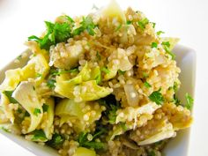 ChowGals: Quinoa Salad with Artichokes and Parsley