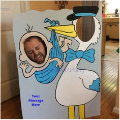 Cigogne Photo Booth Prop. Découpe de Shower par LittleGoobersParty