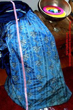 Center back panel of the skirt.