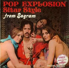 Pop Explosion Sitar Style from Sagram ~ Funny, Creepy Bad Album Cover Art