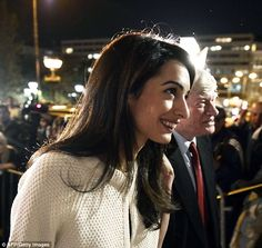 The honeymoon is over and Amal Alamuddin is back to work, and making one noteworthy change. The human rights lawyer ap. Amal Clooney, George Clooney, Big Nose Beauty, Amal Alamuddin Style, Hooked Nose, Celebrity Photos, Celebrity Style, Pretty Nose, Venetian Wedding