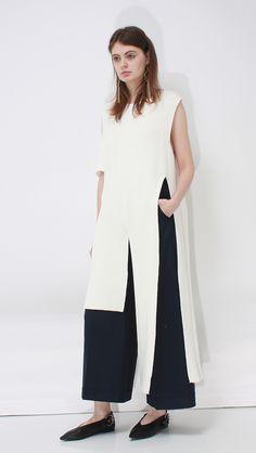 Celina Vest | LOÉIL #vest #knits #sweaters #cutout #sleeveless #minimal #white