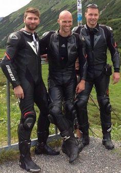 Gay Leather Biker from Belgium Biker Leather, Leather Men, Leather Jackets, Motocross Outfits, Motard Sexy, Motorbike Leathers, Motorcycle Suit, Biker Boys, Biker Gear