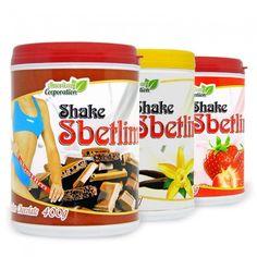 SHAKE EMAGRECEDOR SBETLIM tem sabor agradável, regula o metabolismo e ainda auxilia no emagrecimento rápido.   Disponíveis nos sabores de: Chocolate, Baunilha e Morango.