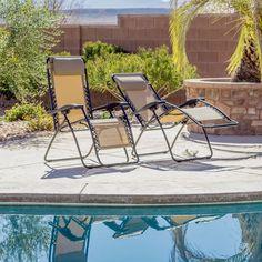 Caravan Canopy Beige Zero Gravity Chairs (Pack Of Two) $108