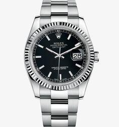 Montre Rolex Datejust : Rolesor gris - combinaison dacier 904L et dor gris 18 ct – M116234-0091