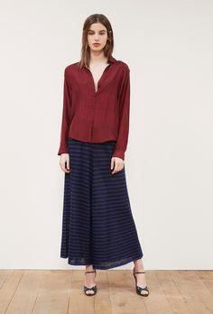 chemise burgundi prêt-à-porter paris mode femme