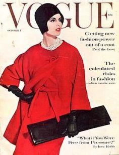 Vintage Vogue magazine covers - mylusciouslife.com - Vintage Vogue October 1960.jpg