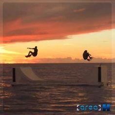Skate em alto mar