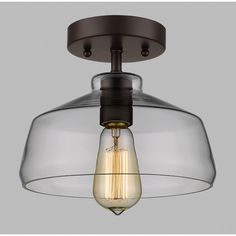 Laurel Foundry Modern Farmhouse Bouvet 1 Light Semi Flush Mount & Reviews | Wayfair
