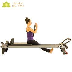 knee alignment pilates reformer exercise 2