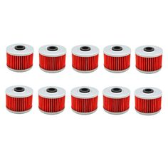 10 pc Motorcycle High Performance Powersports Cartridge Oil Filter for KAWASAKI KX450F KXF450 449  2012-2015