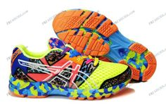 Asics Gel Noosa Tri 8 Green/Blue/Orange Mens Running Shoes