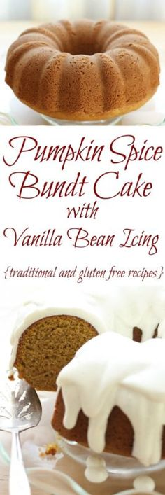 Pumpkin Spice Cake with Vanilla Bean Icing Pumpkin Spice Cake, Pumpkin Cheesecake, Pumpkin Pumpkin, Desserts To Make, Dessert Recipes, Cake Recipes, Delicious Deserts, Just Cakes, Fall Baking