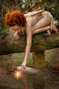 The fairies went from the world, dear,  Because men's hearts grew cold:  And only the eyes of children see  What is hidden from the old...  ~Kathleen Foyle