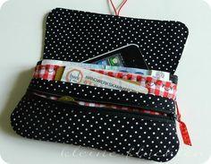 kleine fluchten: Kleine Ferien-Näherei ♥ cute travel bag pattern. German.