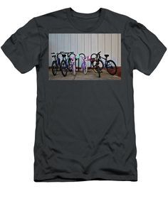 Bicycle Men's T-Shirt (Athletic Fit) featuring the photograph Family Bicycles by Cynthia Guinn