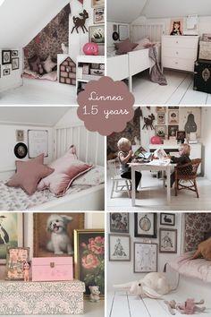 my room: linnéa | romantic scandinavian girls bedroom | vintage | dusty pink | white floorboards