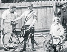 1903. The first Tour de France was 2428 km in length and was won by Maurice Garin with an average speed of 25km/h. His bike is not dissimilar to today's 'fixies'! Source: http://www.letour.fr/2009/TDF/COURSE/us/histoire_home.html #cycling #bicycle