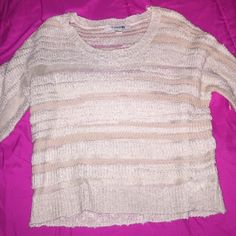 Forever 21 top Size medium top from forever 21 tan and very light peach stripe. Forever 21 Tops Blouses