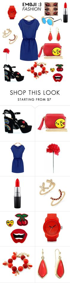 """""""Emoji Fashion"""" by dyanetteballet ❤ liked on Polyvore featuring Olivia Miller, MAC Cosmetics, Rebecca Minkoff, Lydell NYC, Diesel, Monet and Liz Claiborne"""