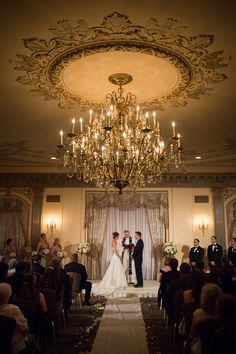 Great shot of the crystal chandelier in the du Barry room at the Hotel du Pont  www.Hoteldupont.com/weddings