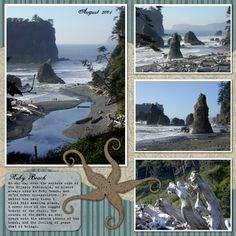 Beach scrapbooking layout More