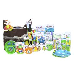 Pin to Win* babyPLACE Sweeps! Wouldn't you love to win all of this? This Munchkin Ultimate Gift Basket is filled with 28 Munchkin favorites bundled together to offer more than $200 worth of nursery essentials! Visit www.childrensplac... for a chance to win this is a well-edited, curated collection of Munchkin must-haves! #bigbabybasketsweeps