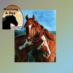 Romance on the Range Jib and Crazyhorse by MustangADayChallenge, $300.00
