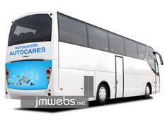 Rotulación de Autocares y Autobuses con vinilo de corte e impresión. Parte Trasera. Precios en www.jmwebs.net o Teléfono 935160047