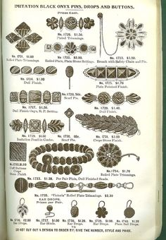 Mourning jewelry catalog page.Source
