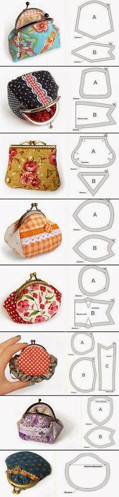 Сумочки ручной работы: Как построить выкройку сумочки с фермуаром