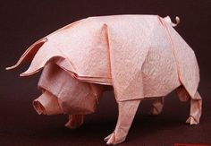 difficulty: urgh!: pig origami