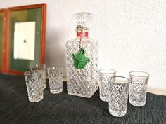 Check out this item in my Etsy shop https://www.etsy.com/listing/565200852/bohemia-crystal-cut-glass-whisky-set