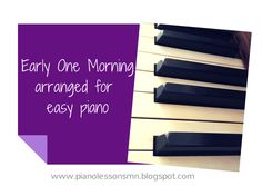 Sheet Music - Early One Morning